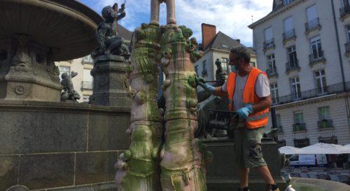 Nantes : la statue vulve vandalisée